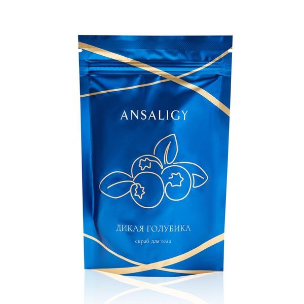 Blue fall: скраб для тела с частицами скорлупы ореха и запахом голубики