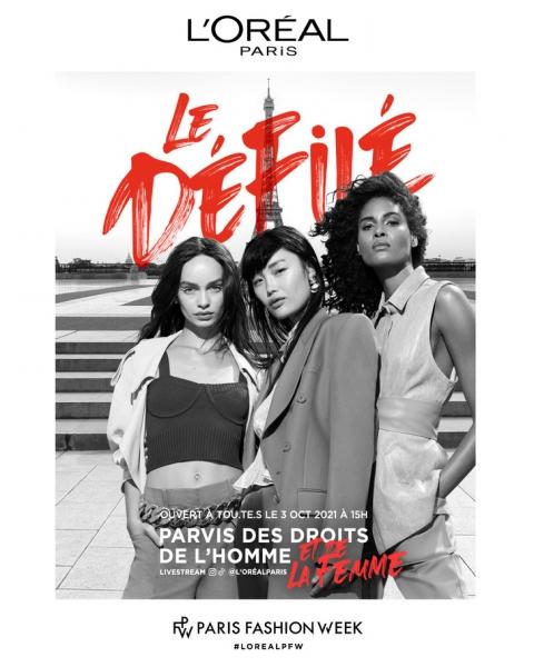 L'Oréal Paris организует модный показ в Париже в поддержку прав и возможностей женщин