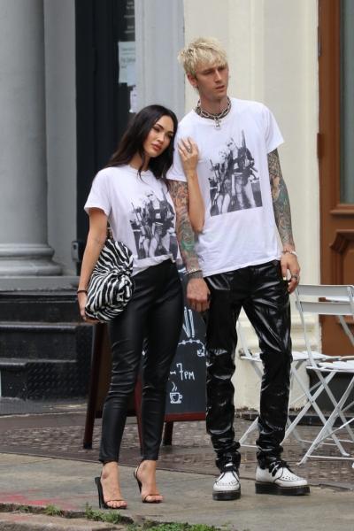 Один гардероб на двоих: модный пример Меган Фокс и Machine Gun Kelly
