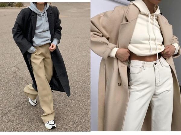 Пальто + худи: модное сочетание для тех, кто не хочет мерзнуть осенью