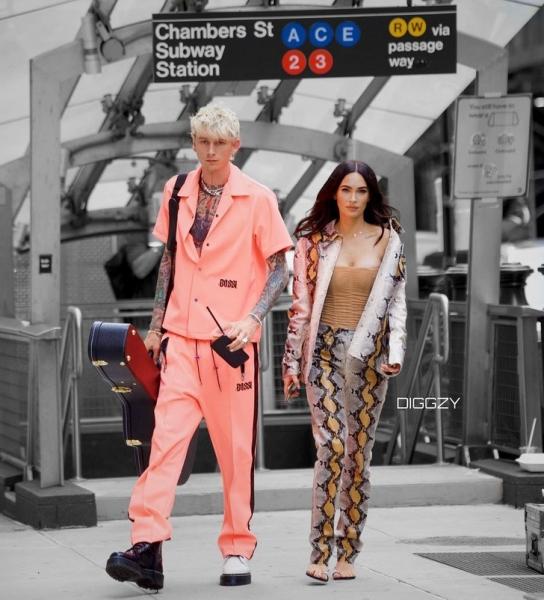 Самая стильная пара на любой вечеринке и просто на улице— Меган Фокс и Machine Gun Kelly