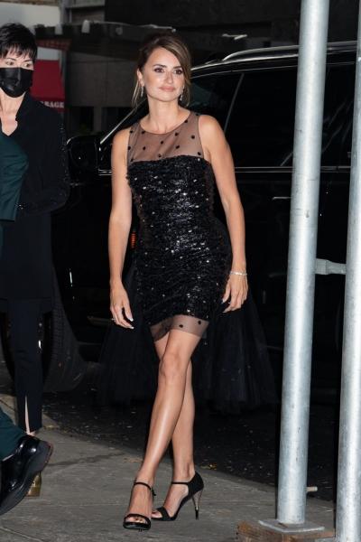 Скоро Новый год! Намекает Пенелопа Крус в платье с «хвостиком» из тюля и пайетками